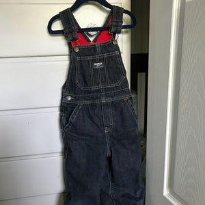 OshKosh b'gosh denim overalls